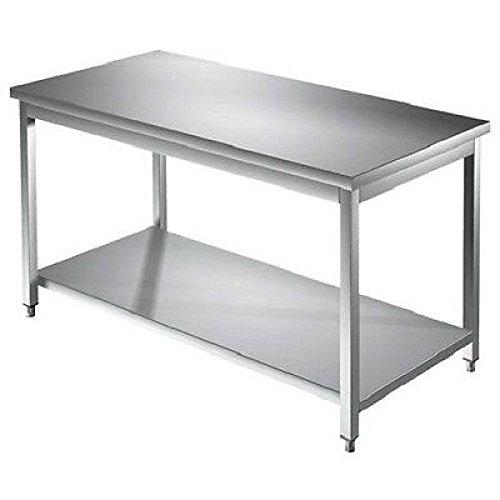 Acero inoxidable mesa de trabajo 2000 x 600 x 850 mm independiente ...