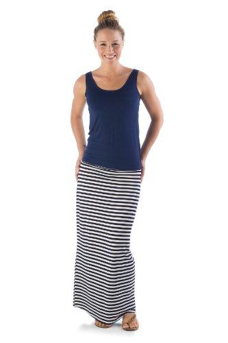 jms412-extra-large-classic-navy-natural-stripe-bamboodreams-janna-maxi-skirt-foldover-waist-narrow-n