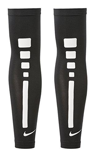 (Nike Mens Pro Combat Elite Sleeve (L/XL, Black/White Basketball) )