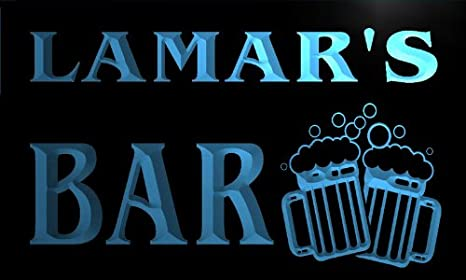 Cartel Luminoso w003011-b LAMAR Name Home Bar Pub Beer Mugs ...