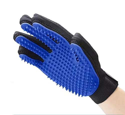 OEM Pet Hair Remover Glove – Gentle Pet Grooming Glove Brush – Efficient Deshedding Glove – Massage Mitt with Enhanced Five Finger Design – Perfect for Dogs & Cats with Long & Short Fur – Right Hand