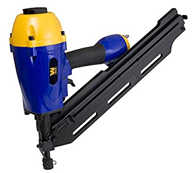 WEN 61798 Pneumatic Clipped Head Framing Nailer, 34°