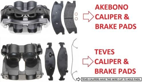 ACARDONE CARLSON NTY 2 x Front Brake Caliper Complete /& Brake Pads Grand Cherokee WJ 1999-2004 AKEBONO