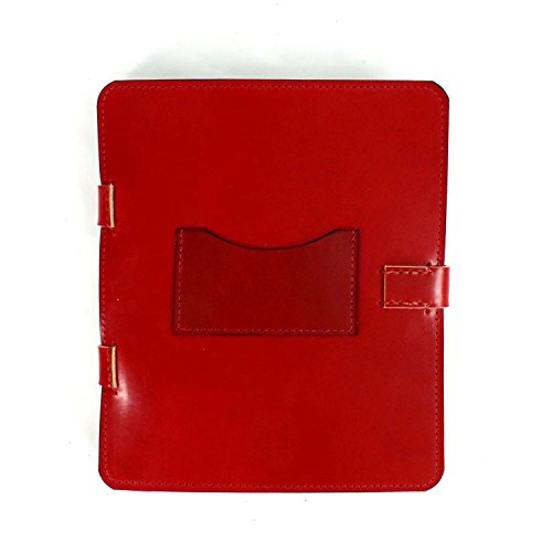 Red bridle leather ipad 3 case, leather tablet sleeve, leather portfolio, leather case Ask a question by Marcellino NY Leathercraft
