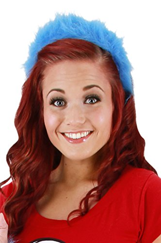 Elope Cat in the Hat - Thing 1&2 Fuzzy Headband]()