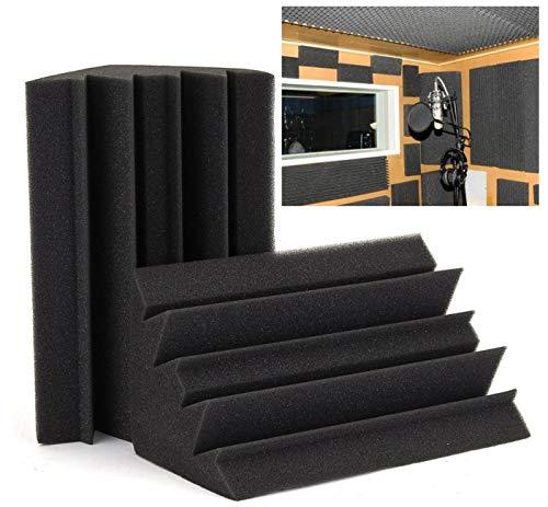 Superjune - Baldosas de espuma acústica para bajo acústica, color negro