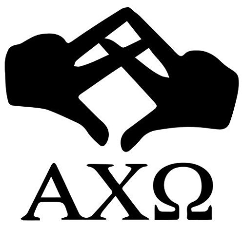 (Alpha Chi Omega Sorority Greek Symbol - Peel and Stick Sticker Graphic - Soild Sticker for Any Hard)