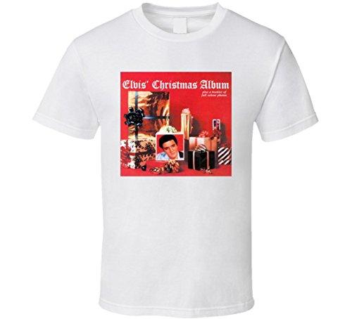 - Elvis' Christmas Album Cover T Shirt XL White