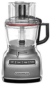KitchenAid KFP0933CU 9-Cup Food Processor with Exact Slice System, Contour Silver