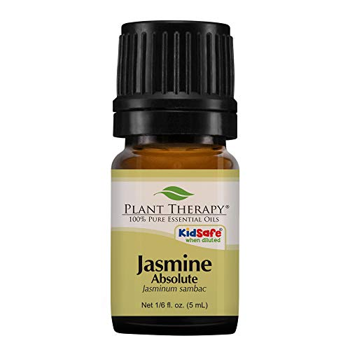 Plant Therapy Jasmine Absolute Essential Oil | 100% Pure, Undiluted, Natural Aromatherapy, Therapeutic Grade | 5 milliliter (1/6 ounce)