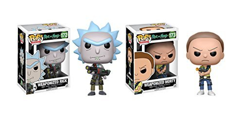 Funko POP Animation Rick and Morty Show: Weaponized Rick and Weaponized Morty Toy Action Figures - 2 Piece BUNDLE