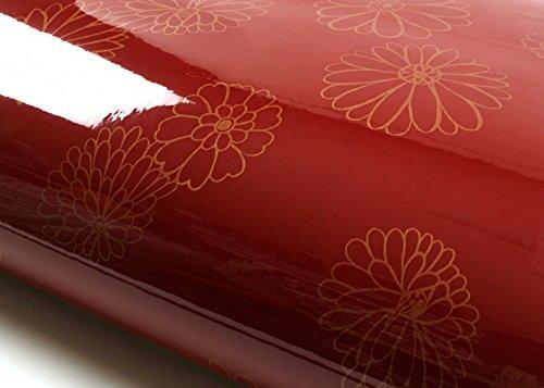 ROSEROSA Peel & Stick Backsplash Floral Butterfly Pattern Textured Vinyl Wall Paper Self-adhesive Wallpaper Shelf Liner Table and Door Reform (PGS9121-10 : 2.00 Feet X 6.56 Feet) ()