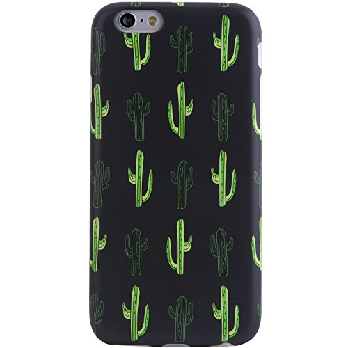 VIVIBIN iPhone 6 Case,iPhone 6s Case,Cute for Women Girls Clear Bumper Best Protective Soft Silicone Rubber Matte TPU Cover Slim Fit Best Phone Case for iPhone 6/iPhone 6s (B Cacti)