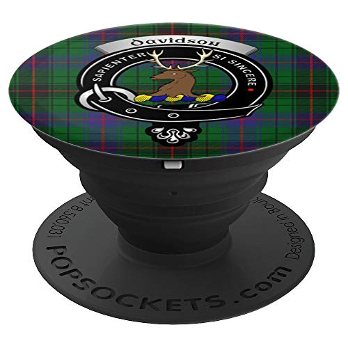 - Davidson Clan Badge and Tartan - PopSockets Grip and Stand for Phones and Tablets