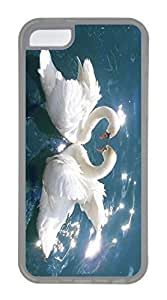 linJUN FENGiphone 6 4.7 inch Case, Customized Protective Soft TPU Clear Case for iphone 6 4.7 inch - Love Swans Cover