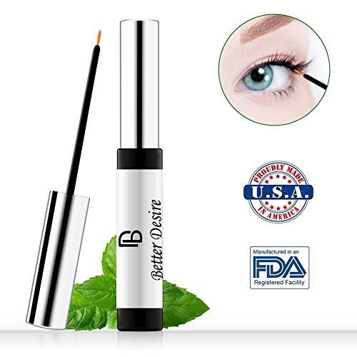 Better Desire Eyelash Growth Serum to Grow Longer Fuller Thicker Lashes And Brows Natural Eyelash Boost Enhancer Promote Rapid Growth of Eyelash Irritation Free Formula (0.3OZ)