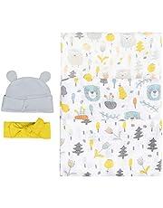Bubzi Co Mantas Swaddle Bebé de Envoltura de Muselina Bosque El Dibujo 120cm x 120 cm - Multiuso Paquete de 3 Mantas Cuadradas Grandes para Envolver Bebés Recién Nacidos, de Algodón -Regalo de Baby