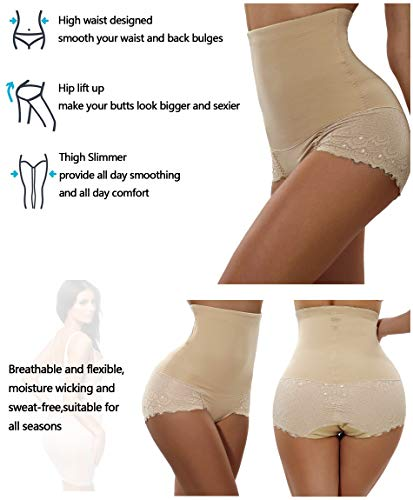 8b5700c410 Gotoly Women Body Shaper High Waist Butt Lifter Tummy Control Panty Slim  Waist Trainer