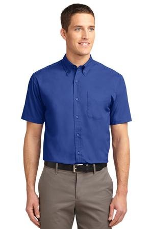 Port Authority Men's Tall Short Sleeve Easy Care Shirt 2XLT Royal/Classic Navy