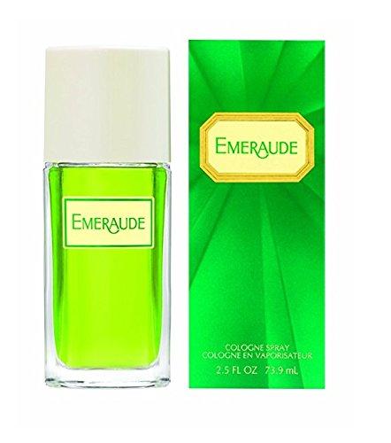 (Emeraude Perfume Cologne Spray- 2.5 Fl Oz + FREE Assorted Purse Kit/Cosmetic Bag Bonus)