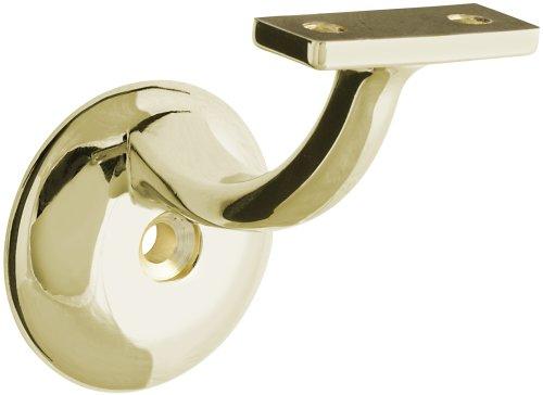 - Stanley Hardware S825-729 V8209 Handrail Bracket in Polished Brass