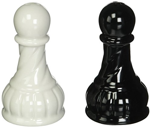 SS CG 56902 Black Ceramic Pepper Shakers product image