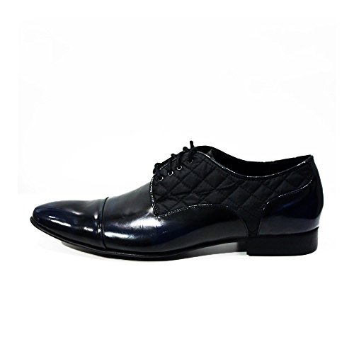 74b0a2d1d36 Modello Biella - Cuero Italiano Hecho A Mano Hombre Piel Azul marino Zapatos  Vestir Oxfords ...
