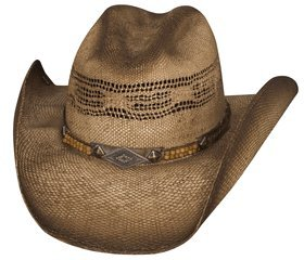 "Large ""Full Speed"" Bangora Straw Cowboy Hat"