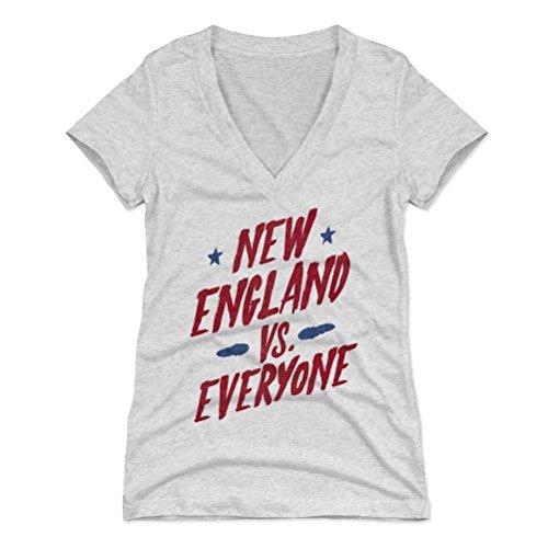 New England Shirt for Women (Women's V-Neck, Medium, Tri Ash) - New England vs Everyone