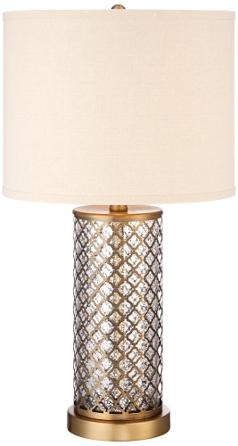 Alcazar Brass and Mercury Glass Table Lamp Regency Brass Table Lamp