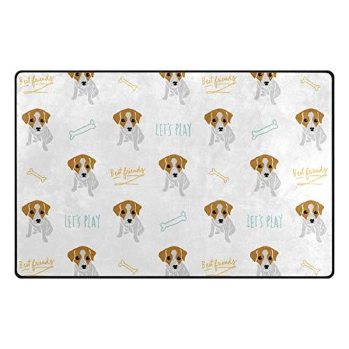 Cute Area Rug Cute Jack Russell Terrier Door Mat for Living Room Bedroom Kids Room Nursery, 20