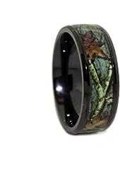 #1 CAMO Wedding Rings - 8mm Black Rings - Outdoor Hunting Black Titanium Band