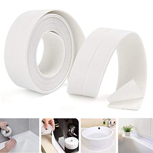 Bathroom Caulk Strip Adhesive Shower Caulk Strips Waterproof Bath Sealing Tape Strip, caulking Tape Anti-Mildew Tub Sealer Decorative Trim 1-1/2