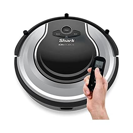 Review Shark ION Robot Dual-Action Robot Vacuum Cleaner with 1-Hour Plus of Cleaning Time, Smart Sensor Navigation and Remote Control (RV720)