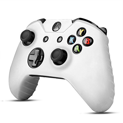 TNP Xbox One Controller Case (White) - Soft Silicone Gel Rubber Grip Case Protective Cover Skin for Xbox One Wireless Game Gaming Gamepad Controllers [Xbox One] - Htc X Silicone Skin One