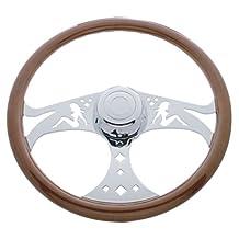 "Kenworth 2001 - On / Semi Truck 18"" Chrome Lady Design Steering Wheel"
