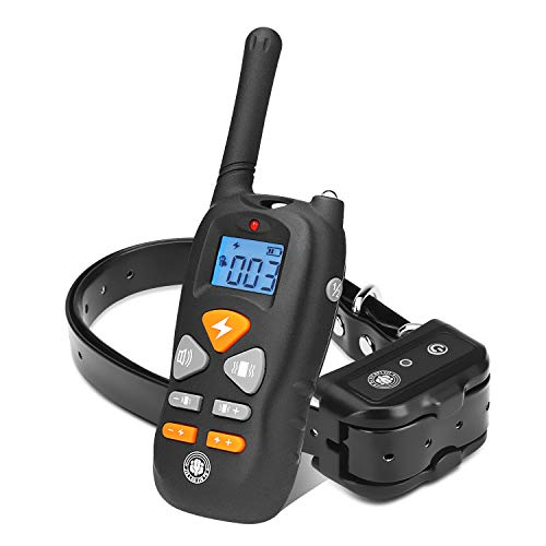 JIALANJIUYU Dog Training Collar,Rechargeable Shock Collar for Dogs, E-Collar up to 1800FT Remote Range, Beep/Vibration/Shock 3 Training Modes,100% Waterproof Shock Training Collar Dogs - Collar Remote Bark