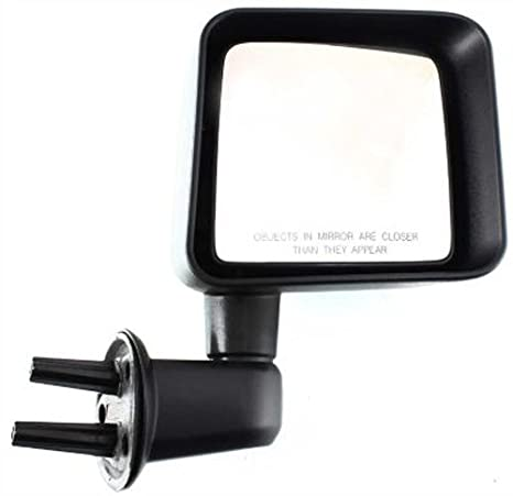 Passenger Side Mirror for Jeep Wrangler Textured Non-Heated Folding Door Right Rear View Door Replacement Mirror CH1321271 2007 2008 2009 2010 2011 2012 2013 2014 2015 2016 2017