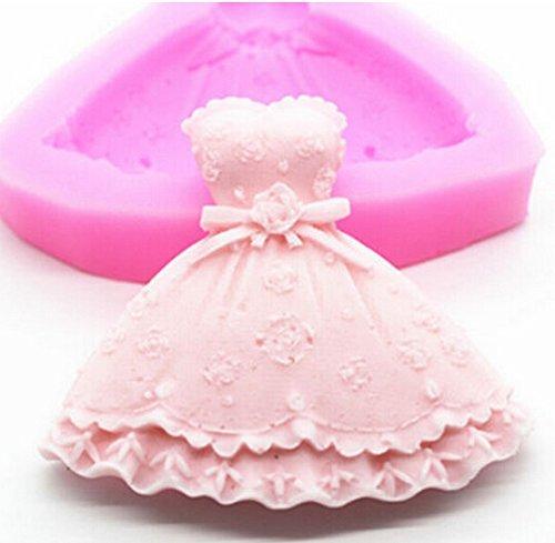 NYKKOLA Princess Dress Silicone Fondant Cake Mold Chocolate Baking Sugarcraft