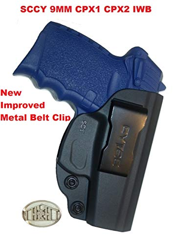 Concealment Gun Holster for SCCY CPX-1 and CPX-2 Inside The Waistband IWB, Right Hand, Law Enforcement, Military Grade, New Improved Metal Belt Clip!