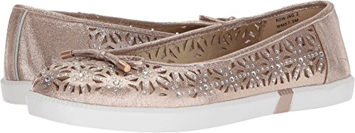 Kenneth Cole REACTION Women's Row-ing 2 Slip On Skimmer Flat with Bow Detail Ballet, Soft Gold, 7.5 M US
