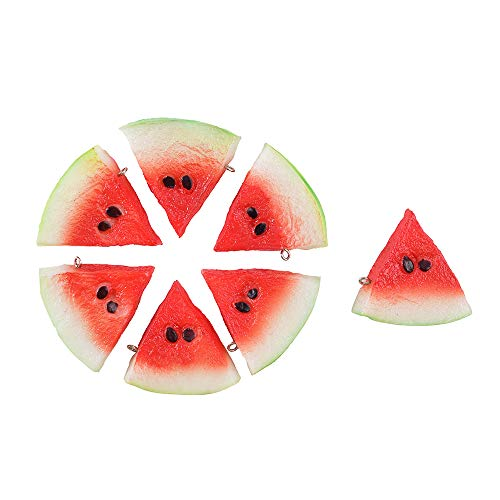 - Hagao Fake Watermelon Artificial Fruits Highly Simulated Slices Lifelike Red Kids Toy Gift Home Kitchen Decoration Photography Props 7 pcs