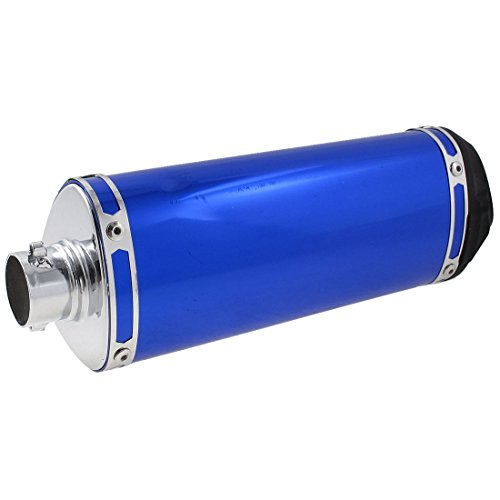 Motorcycle 38mm Dia Exhaust Pipe Tip Muffler Blue