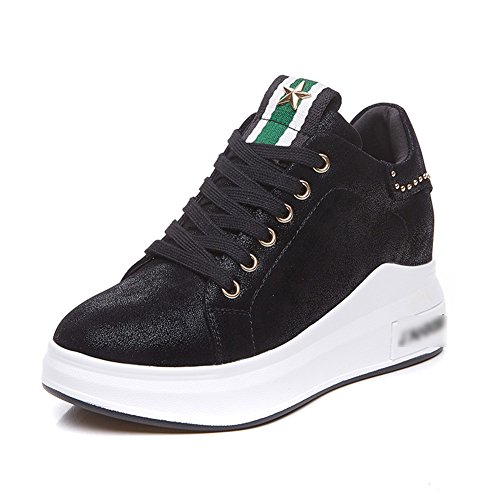 Tamaño Libre Aire Fondo Liangjun Black 235mm l De Zapatillas Eu37 uk5 Mujer 2 2 Primavera Zapatos Tamaños color 1 Tipos Al Black Grueso 5 TTw8z