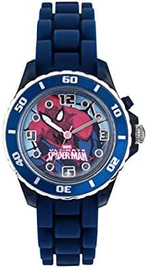 Disney Spiderman Light Up Kids Analogue Watch With Blue Strap SPD3415
