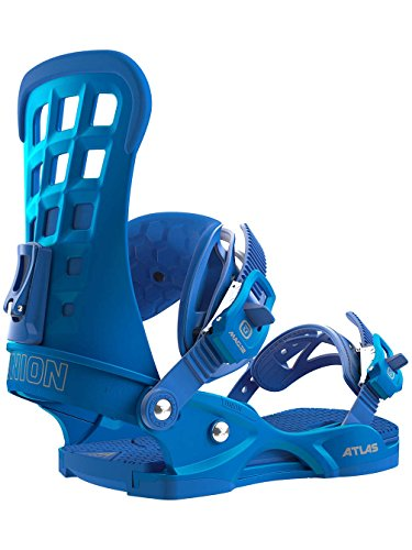 Union Atlas Snowboard Bindings Metallic Blue Medium US 7-10 (Terrain Snowboard All Binding)