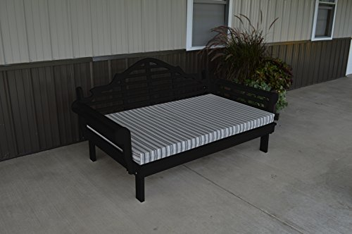 75 Inch Pine Indoor or Outdoor Marlboro Daybed Amish Made- Blk Paint ()