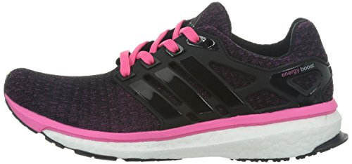 adidas Performance ENERGY BOOST Zapatillas para Correr Running Negro Rosa para Mujer Torsion System