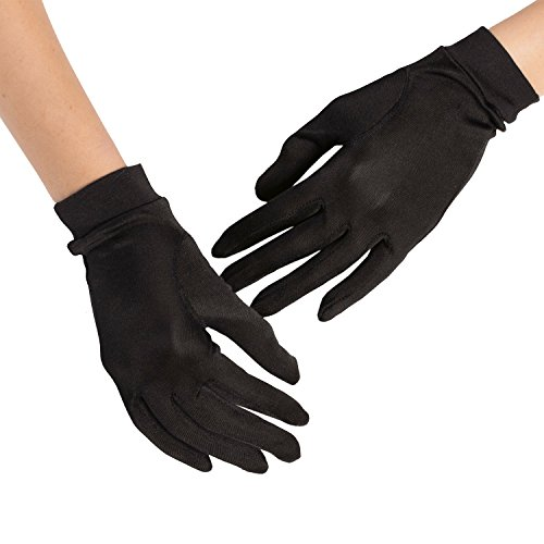 Silky Affection - Black Gloves, Mulberry Silk, Glove Liners, Driving Gloves, Black