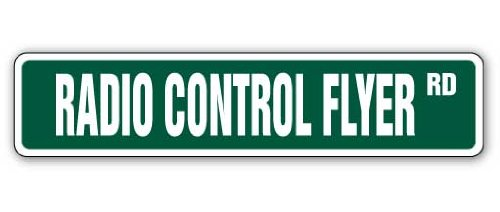 RADIO CONTROL FLYER Street Sign rc model plane parts